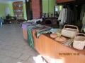 Mūsu draudzes rokdarbnieku izstāde Blīdenes kultūras namā, kurā notiek draudžu sadraudzības pasākums